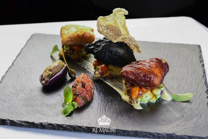 typical dish italian gourmet restaurant