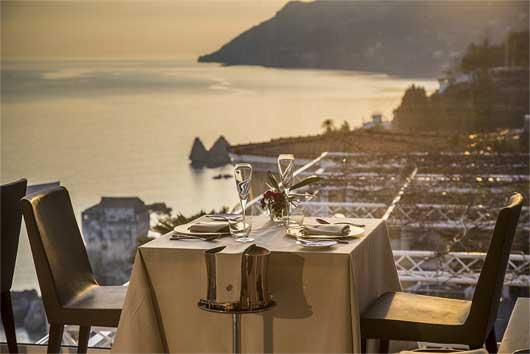 Cenetta romantica Salerno vista panoramica mozzafiato
